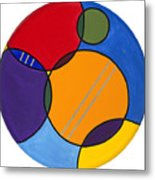 Abstract Circles 2 Metal Print