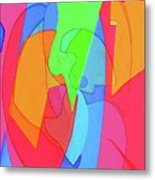 Abstract Color Block  Metal Print