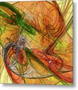 Abstract Color Swirls Metal Print