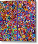 Abstract Colorful Flowers 4 Metal Print