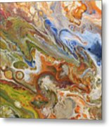 Abstract Colour Metal Print