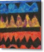 Abstract Combination Of Colors No 4 Metal Print