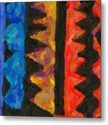Abstract Combination Of Colors No 5 Metal Print