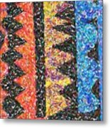 Abstract Combination Of Colors No 6 Metal Print