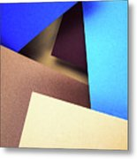 Abstract Composition With Colored Paper Metal Print