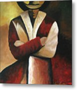 Abstract Cowboy Metal Print