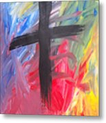 Abstract Cross Metal Print