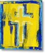 Abstract Crosses Metal Print