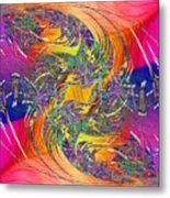 Abstract Cubed 314 Metal Print