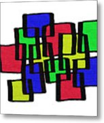 Abstract Cubicles Metal Print