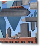 Abstract Dallas Metal Print