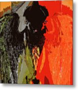 Abstract Dark Angel Metal Print