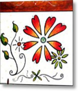 Abstract Decorative Greeting Card Art Thank You By Madart Metal Print