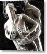 Abstract Digital Artwork Of A Couple Making Love Metal Print