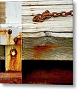 Abstract Dock Metal Print
