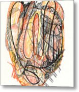 Abstract Drawing Forty-five Metal Print