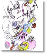 Abstract Drawing Seventy-two Metal Print