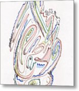Abstract Drawing Sixty Metal Print