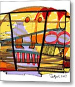 Abstract Drawing Sixty-seven Metal Print