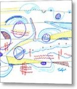 Abstract Drawing Sixty-three Metal Print