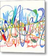 Abstract Drawing Two Metal Print