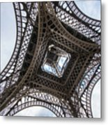 Abstract Eiffel Tower Looking Up 2 Metal Print