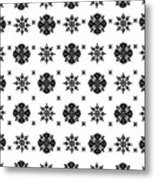 Abstract Ethnic Seamless Floral Pattern Design Metal Print