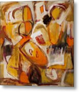 Abstract Expressionism Three Metal Print