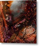Abstract Face #0066 Metal Print