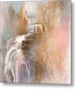 Abstract Falls Metal Print