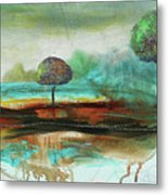 Abstract Fantasy Landscape Metal Print