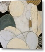 Abstract Female Back  Metal Print by Joanne Claxton