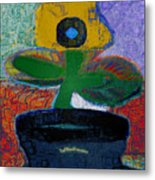 Abstract Floral Art 115 Metal Print