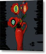 Abstract Floral Art 91 Metal Print