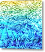 Abstract Floral Dl312016 Metal Print