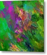 Abstract Floral Fantasy 071912 Metal Print