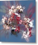 Abstract Floral Fantasy  Metal Print