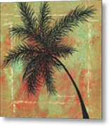 Abstract Floral Fauna Palm Tree Leaf Tropical Palm Splash Abstract Art By Megan Duncanson  Metal Print