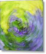 Abstract Flower-bed Metal Print