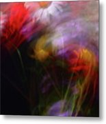 Abstract Flowers One Metal Print