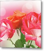 Abstract Flowers Spring Background Metal Print