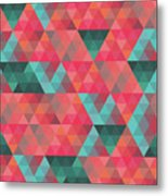 Abstract Geometric Colorful Endless Triangles Abstract Art Metal Print