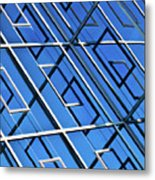 Abstract Geometric Reflection Metal Print by by Fabrice Geslin