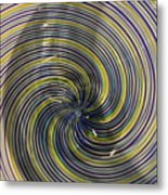 Abstract Glass 6 Metal Print