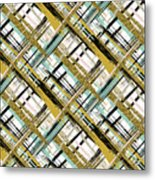 Abstract Gold Lines Metal Print