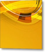 Abstract Golden Arcs And Lines Metal Print