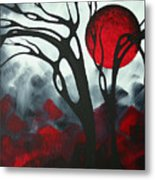 Abstract Gothic Art Original Landscape Painting Imagine I By Madart Metal Print