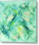 Abstract Green Blue Metal Print