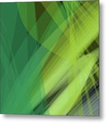 Abstract Green Vector Background Banner, Transparent Wave Lines  Metal Print