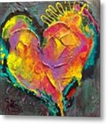 Abstract Heart Series Metal Print
